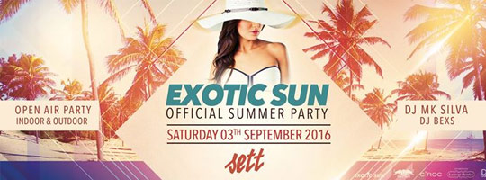 Exotic Sun Official Summer Party | Sett Club - 03/09/2016